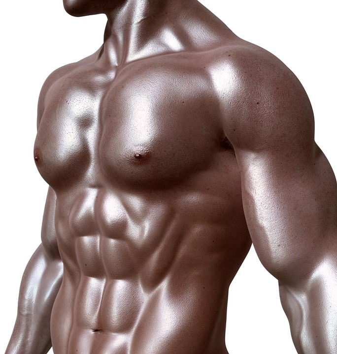 A man with a bronzed skin tan